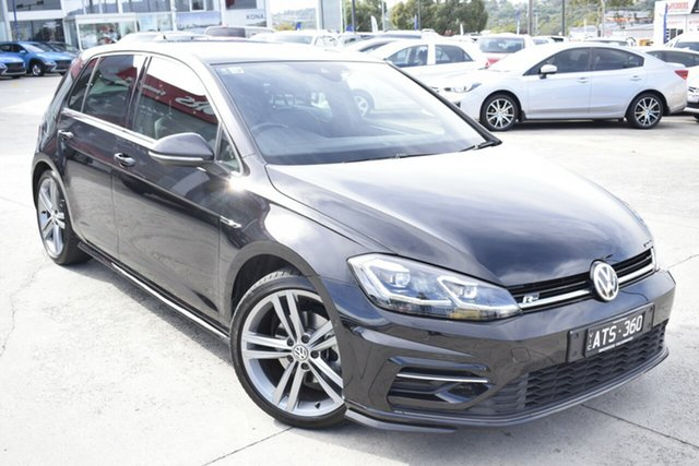 Used Volkswagen Golf 7.5 MY18 110TSI DSG Highline Ferntree Gully, 2018 Volkswagen Golf 7.5 MY18 110TSI DSG Highline Black 7 Speed Sports Automatic Dual Clutch
