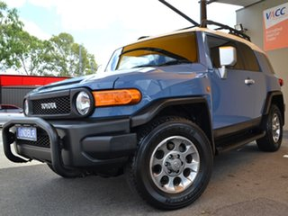 2013 Toyota FJ Cruiser GSJ15R Blue 5 Speed Automatic Wagon