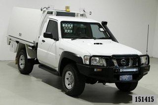 2011 Nissan Patrol MY11 Upgrade ST (4x4) White 5 Speed Manual Coil Cab Chassis
