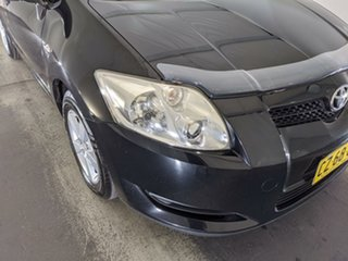 2008 Toyota Corolla ZRE152R Ascent Black 6 Speed Manual Hatchback.