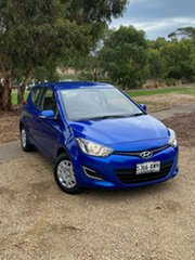 2012 Hyundai i20 PB MY12 Active Blue 5 Speed Manual Hatchback.