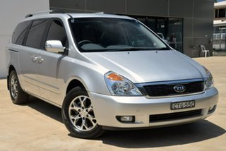 2014 Kia Grand Carnival VQ MY14 Platinum Silver 6 Speed Sports Automatic Wagon.