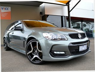 2016 Holden Commodore VF II MY16 SV6 Sportwagon Black Prussian Steel 6 Speed Sports Automatic Wagon.