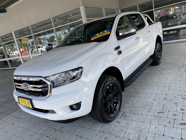 Used Ford Ranger PX MkIII MY19 XLT Taree, 2018 Ford Ranger PX MkIII MY19 XLT White 6 Speed Sports Automatic Double Cab Pick Up