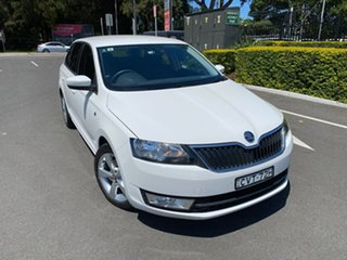 2014 Skoda Rapid NH MY14 Ambition Spaceback DSG White 7 Speed Sports Automatic Dual Clutch Hatchback.