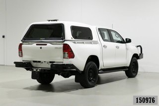 2017 Toyota Hilux GUN126R MY17 SR (4x4) White 6 Speed Manual Dual Cab Utility