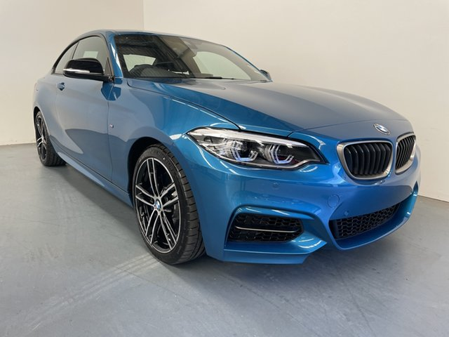 Demo BMW 2 Series F22 LCI M240I Newcastle West, 2020 BMW 2 Series F22 LCI M240I Long Beach Blue 8 Speed Sports Automatic Coupe