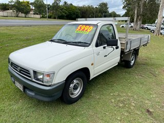 2001 Toyota Hilux RZN147R Workmate 4x2 White 5 Speed Manual Cab Chassis.