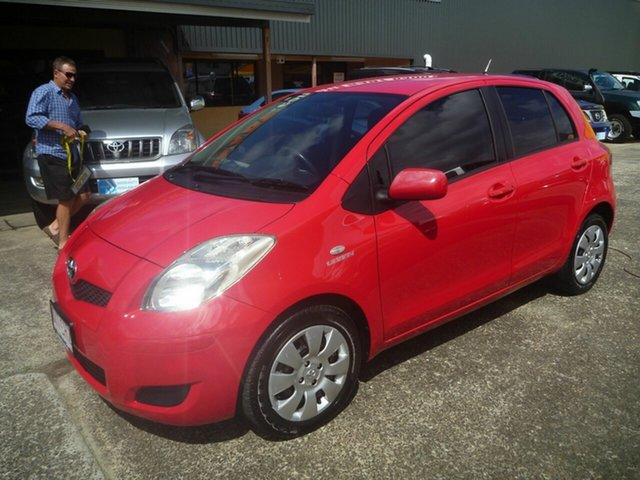 Used Toyota Yaris NCP91R MY09 YRS Morayfield, 2009 Toyota Yaris NCP91R MY09 YRS Red 4 Speed Automatic Hatchback