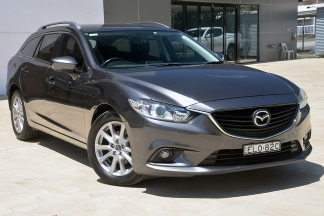 Used Mazda 6 GL1031 Sport SKYACTIV-Drive Tuggerah, 2016 Mazda 6 GL1031 Sport SKYACTIV-Drive Grey 6 Speed Sports Automatic Wagon