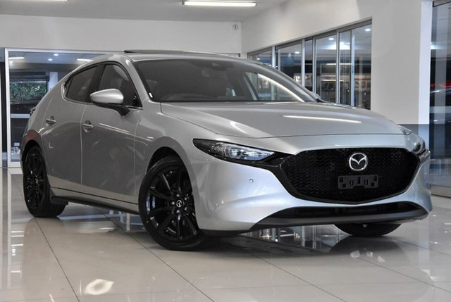 Demo Mazda 3 BP2HLA G25 SKYACTIV-Drive Astina Waitara, 2020 Mazda 3 BP2HLA G25 SKYACTIV-Drive Astina Silver 6 Speed Sports Automatic Hatchback