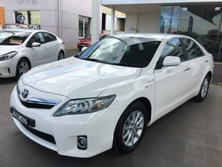 2011 Toyota Camry AHV40R Hybrid White Constant Variable Sedan.