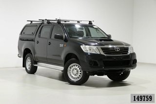 2015 Toyota Hilux KUN26R MY14 SR (4x4) Grey 5 Speed Automatic Dual Cab Pick-up.