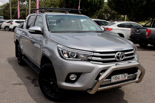 Used Toyota Hilux GUN126R SR5 Double Cab Phillip, 2015 Toyota Hilux GUN126R SR5 Double Cab Grey 6 Speed Sports Automatic Utility