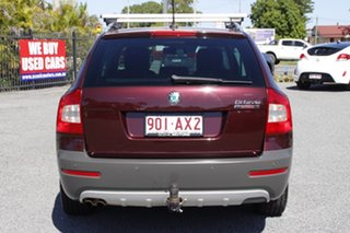 2011 Skoda Octavia 1Z MY11 Scout Premium DSG 103TDI Red/Black 6 Speed Sports Automatic Dual Clutch