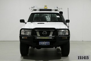 2011 Nissan Patrol MY11 Upgrade ST (4x4) White 5 Speed Manual Coil Cab Chassis.
