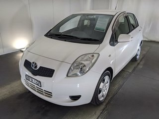 2008 Toyota Yaris NCP91R YRS White 5 Speed Manual Hatchback.