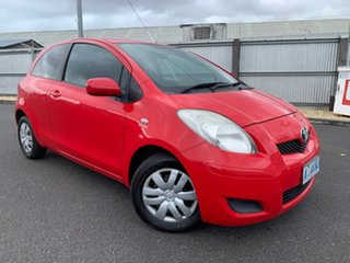 2008 Toyota Yaris NCP90R MY09 YR Red 4 Speed Automatic Hatchback.