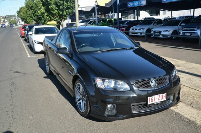 Used Holden Commodore VE II MY12 SV6 Toowoomba, 2012 Holden Commodore VE II MY12 SV6 Black 6 Speed Manual Utility
