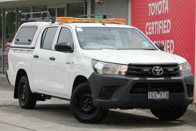 Pre-Owned Toyota Hilux Glen Waverley, Hilux 4x2 Workmate 2.7L Petrol Automatic Double Cab