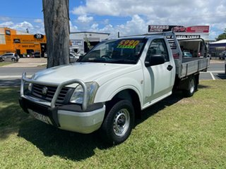 2003 Holden Rodeo RA DX 4x2 White 5 Speed Manual Cab Chassis.