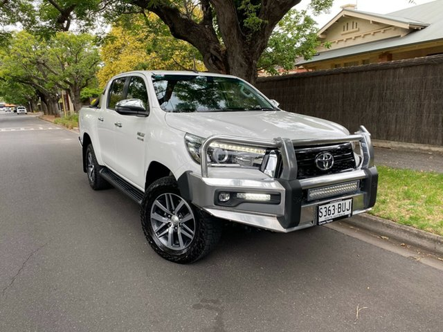 Pre-Owned Toyota Hilux GUN126R SR5 Double Cab Hawthorn, 2018 Toyota Hilux GUN126R SR5 Double Cab White 6 Speed Sports Automatic Utility