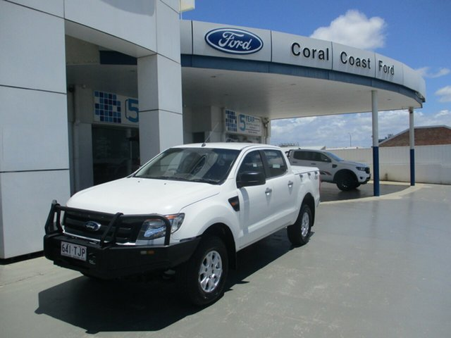 Used Ford Ranger XL XL 3.2 (4x4) Bundaberg, 2013 Ford Ranger XL XL 3.2 (4x4) White 6 Speed Manual Dual Cab