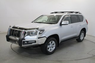 2018 Toyota Landcruiser Prado GDJ150R GXL Silver 6 Speed Sports Automatic Wagon.