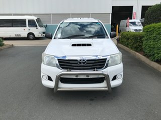 2013 Toyota Hilux KUN16R MY12 SR Double Cab 4x2 White 5 speed Manual Utility.