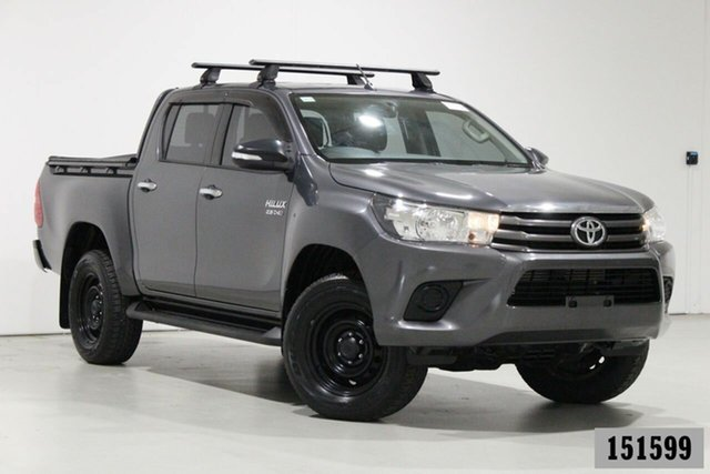 Used Toyota Hilux GUN126R MY17 SR (4x4) Bentley, 2017 Toyota Hilux GUN126R MY17 SR (4x4) Graphite 6 Speed Manual Dual Cab Chassis