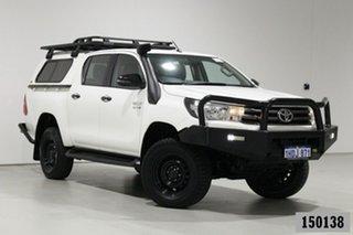 2018 Toyota Hilux GUN126R MY17 SR (4x4) White 6 Speed Automatic Dual Cab Utility.