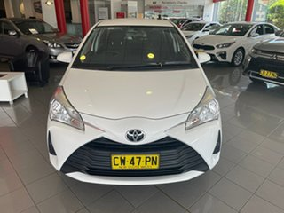 2019 Toyota Yaris NCP130R Ascent White 4 Speed Automatic Hatchback.