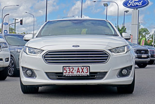 2014 Ford Falcon FG MkII G6E EcoBoost White 6 Speed Sports Automatic Sedan.
