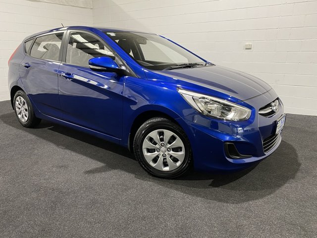 Used Hyundai Accent RB4 MY17 Active Glenorchy, 2017 Hyundai Accent RB4 MY17 Active Blue 6 Speed Constant Variable Hatchback