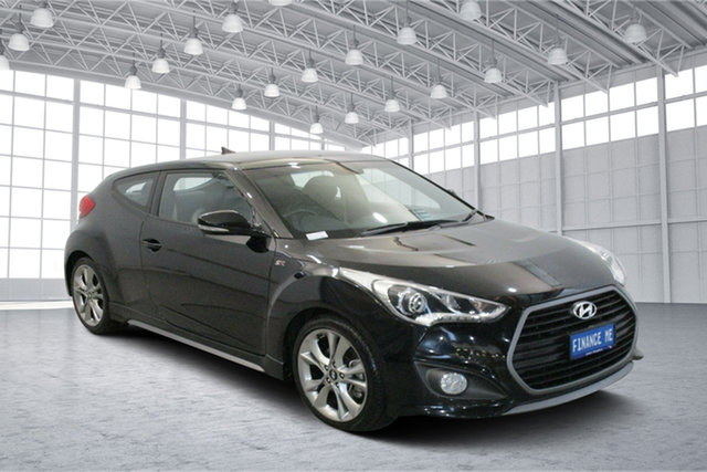 Used Hyundai Veloster FS5 Series II SR Coupe D-CT Turbo Victoria Park, 2017 Hyundai Veloster FS5 Series II SR Coupe D-CT Turbo Phantom Black 7 Speed