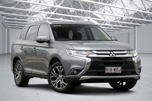 Used Mitsubishi Outlander ZK MY16 XLS (4x2) Eagle Farm, 2016 Mitsubishi Outlander ZK MY16 XLS (4x2) Grey Continuous Variable Wagon