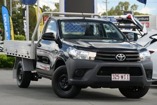 2015 Toyota Hilux TGN121R Workmate 4x2 Black 5 Speed Manual Cab Chassis.