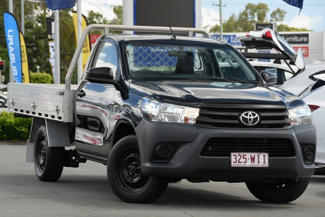 Used Toyota Hilux TGN121R Workmate 4x2 Aspley, 2015 Toyota Hilux TGN121R Workmate 4x2 Black 5 Speed Manual Cab Chassis