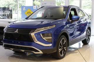 2020 Mitsubishi Eclipse Cross YB MY21 LS AWD Lightning Blue 8 Speed Constant Variable Wagon.