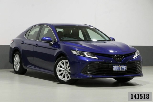 Used Toyota Camry ASV70R Ascent Bentley, 2018 Toyota Camry ASV70R Ascent Blue 6 Speed Automatic Sedan