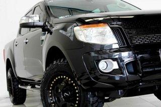 2014 Ford Ranger PX XLT 3.2 Hi-Rider (4x2) Black 6 Speed Automatic Crew Cab Pickup.
