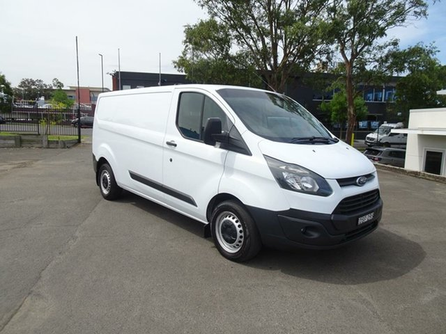 Used Ford Transit Custom VN 330L Low Roof LWB Nowra, 2015 Ford Transit Custom VN 330L Low Roof LWB White 6 Speed Manual Van