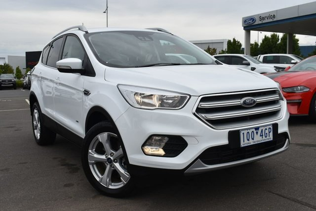 Used Ford Escape ZG 2019.75MY Trend Essendon Fields, 2019 Ford Escape ZG 2019.75MY Trend White 6 Speed Sports Automatic Dual Clutch SUV