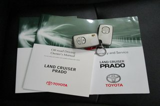 2014 Toyota Landcruiser Prado KDJ150R MY14 Kakadu White 5 Speed Sports Automatic Wagon