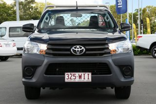 2015 Toyota Hilux TGN121R Workmate 4x2 Black 5 Speed Manual Cab Chassis