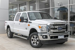 2016 Ford F250 (No Series) Lariat White Automatic Utility.