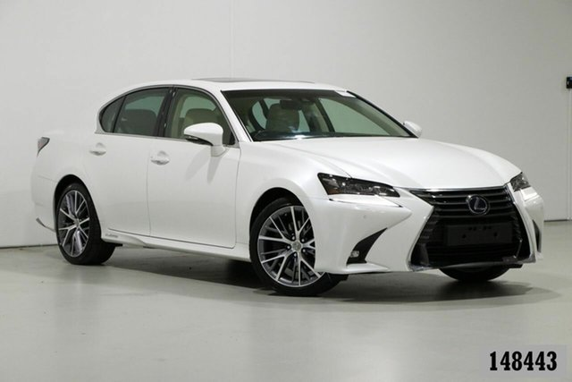 Used Lexus GS450H GWL10R MY17 Hybrid Sports Luxury Bentley, 2017 Lexus GS450H GWL10R MY17 Hybrid Sports Luxury Pearl White 6 Speed CVT Auto Sequential Sedan