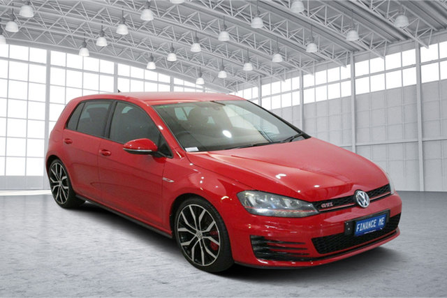 Used Volkswagen Golf VII MY15 GTI DSG Performance Victoria Park, 2015 Volkswagen Golf VII MY15 GTI DSG Performance Red 6 Speed Sports Automatic Dual Clutch Hatchback