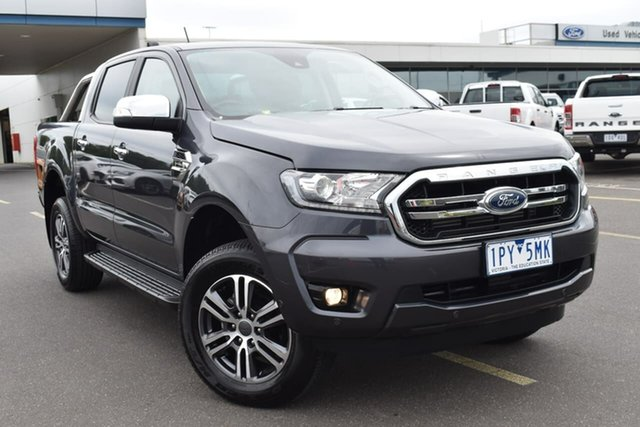 Used Ford Ranger PX MkIII 2019.75MY XLT Essendon Fields, 2019 Ford Ranger PX MkIII 2019.75MY XLT Meteor Grey 10 Speed Sports Automatic Double Cab Pick Up