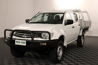 2011 Mitsubishi Triton MN MY11 GLX Double Cab White 5 speed Manual Utility.